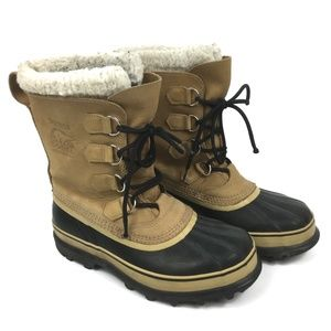 Sorel Caribou Winter Boots Work Lined Mens Size 8